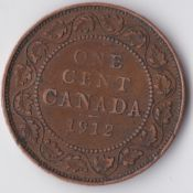 Canada, George V, One Cent 1912, VF, WB3609